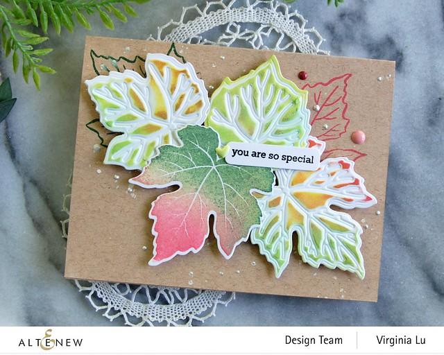 09-12-2020-Grape Leaves Stamp Set-GrapeLeaves Die Set-Mixed Media Pigment Ink-003