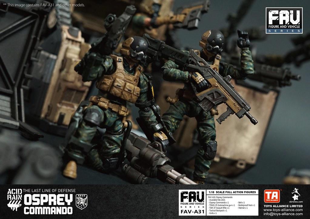《酸雨戰爭》魚鷹突擊兵 1/18比例可動人偶!快速登陸作戰的可靠戰力