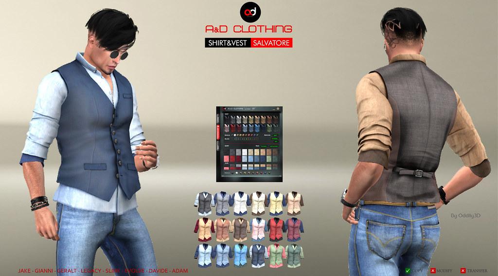 ! A&D Clothing – Shirt&Vest -Salvatore-    NewRelease