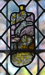 fragments: stag and dragon (15th Century)