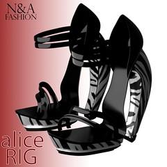 Heeled Shoes - Zebra Edit - Alice Rig - N&A Fashion v1