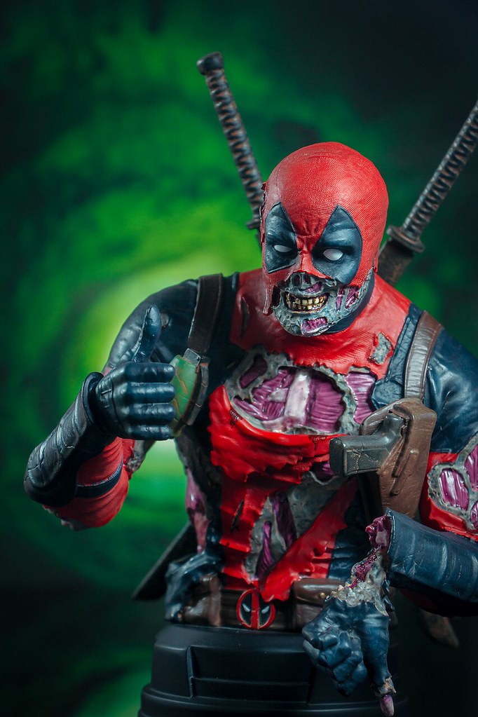 連雙手比讚都有困難!! Gentle Giant Marvel【殭屍死侍】Deadpool Zombie 1/6 比例半身胸像【2020 SDCC 限定】