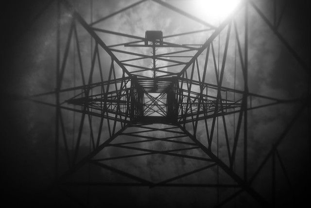 Power Lines Tower Frame