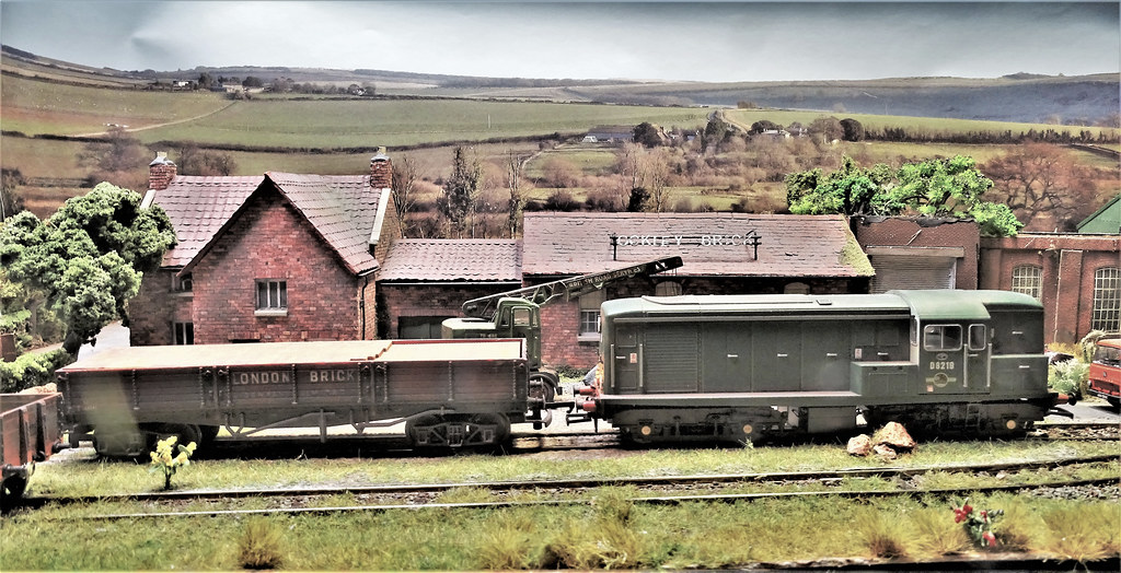 D8219 Moves a Loaded Wagon to the Sidings