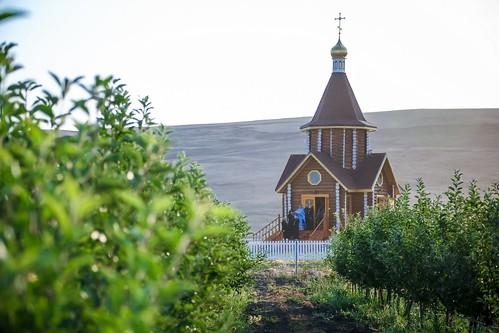 03 сентября 2020, Литургия в храме на фермерском хозяйстве