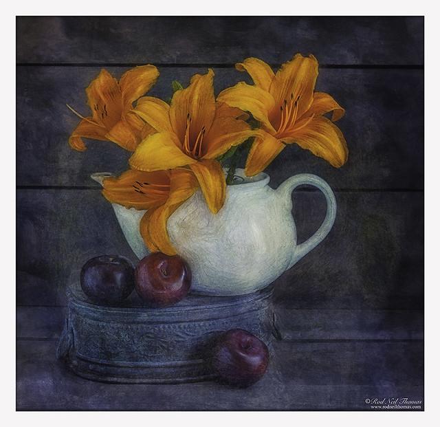 Daylilies In Teapot
