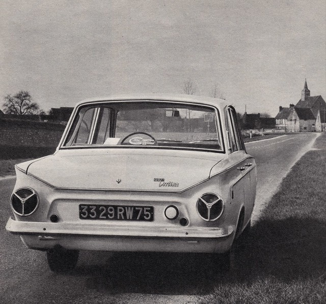 Postcard Ford Cortina GT Collection l'Auto-Journal 1966a