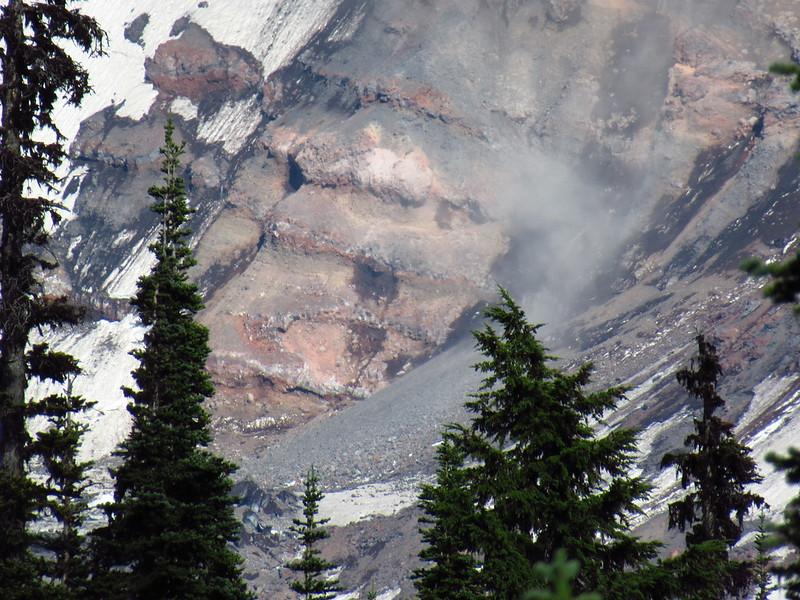 Dust from rockslide