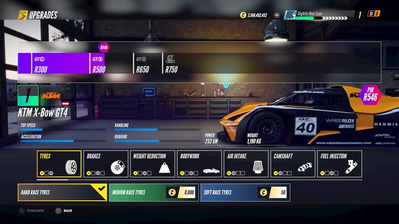 Project CARS 3 Player Garage
