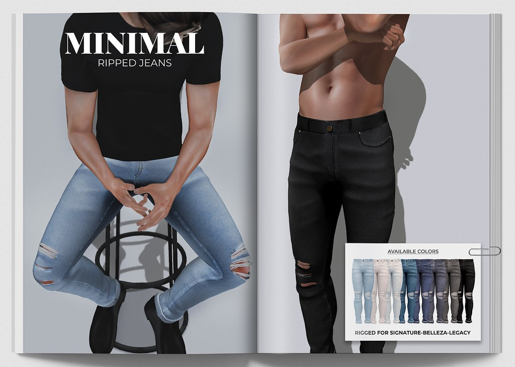 MINIMAL – Ripped Jeans