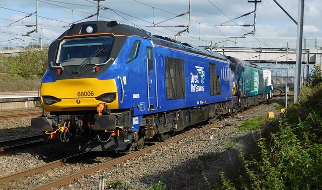 68006 +68002 - Lichfield Trent Valley, Staffordshire