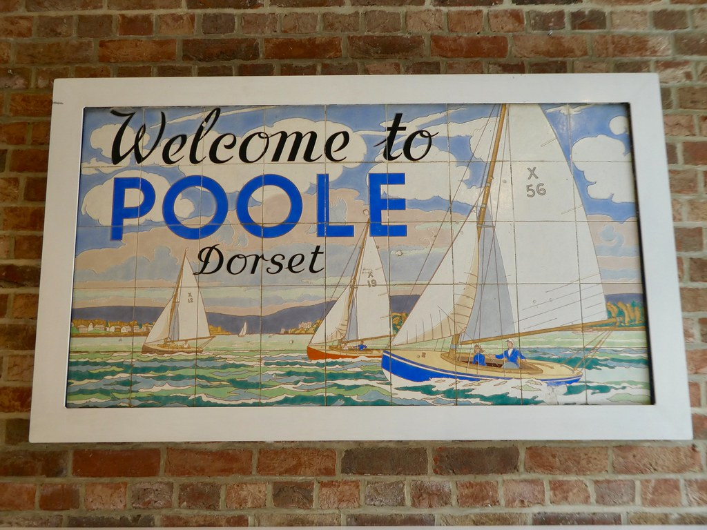 Welcome to Poole sign in the Poole Museum