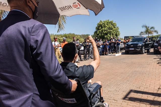 03.09.20 - Homenagem a policial civil ferido em operação