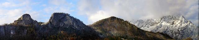 Kleiner und Grosser Barmstein vor den Untersberg