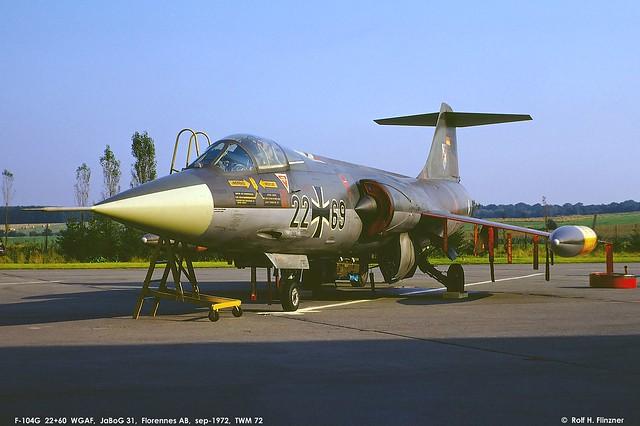 1972_0921_Florennes, F-104G 22+69_JaBoG 33_© Rolf Flinzner