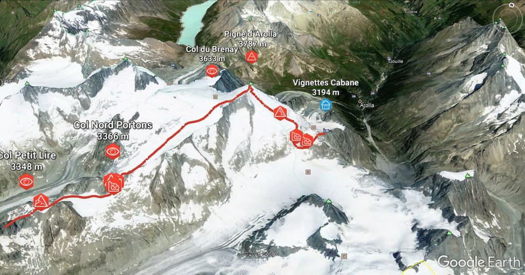 Pigne Arolla, Day 5 H.R. Chamonix-Zermatt Walliser Alpen / Alpes valaisannes Schweiz foto 05