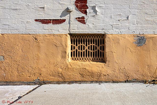 White Brick Over Yellow Cement