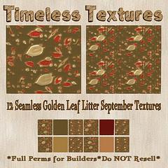 TT 12 Seamless Golden Leaf Litter September Timeless Textures