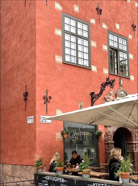 Café in Stockholm Old Town / Gamla stan