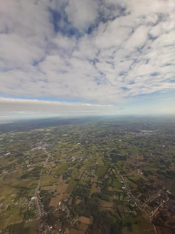 Panorámica de Flandes desde el avión
