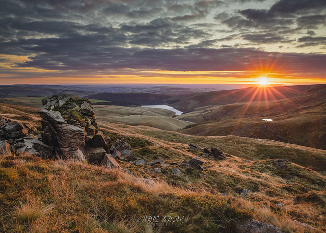 Sunset at Kinder Downfall