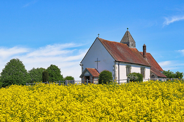St Huberts Church at Idsworth