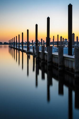 boat dock longexposure sunrise mantoloking newjersey jerseyshore