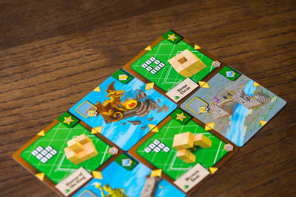 Catacombs Cubes Monuments boardgame juego de mesa