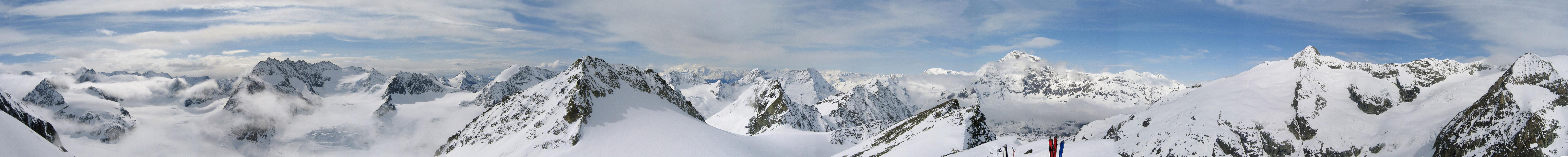 Pigne Arolla, Day 5 H.R. Chamonix-Zermatt Walliser Alpen / Alpes valaisannes Švýcarsko panorama 52