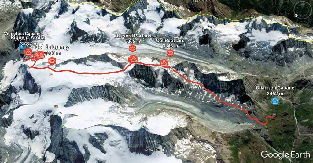Pigne Arolla, Day 5 H.R. Chamonix-Zermatt Walliser Alpen / Alpes valaisannes Schweiz foto 03