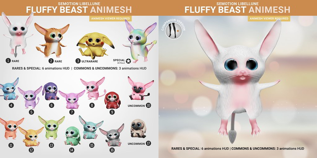 SEmotion Libellune Fluffy Beast Animesh