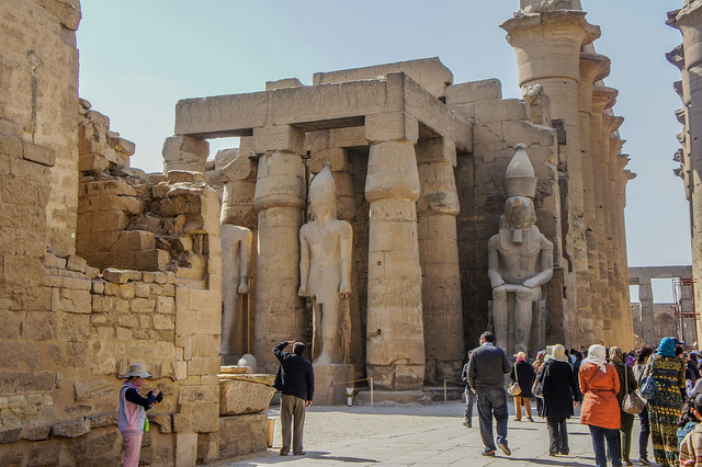 First Courtyard in Egypt's Luxor Temple