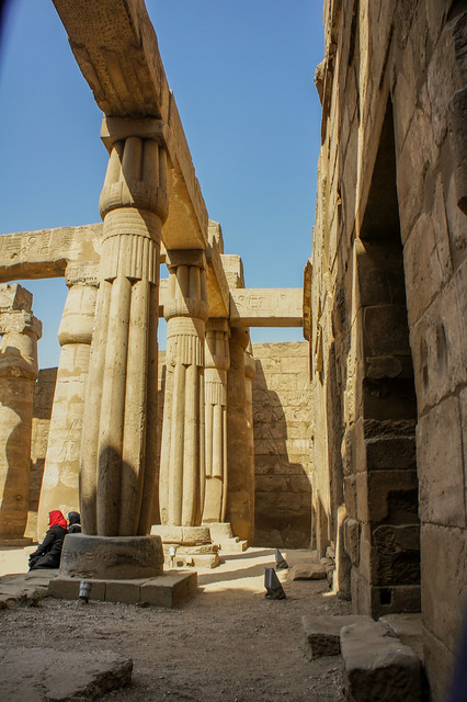Sun Court of Amenhotep III at Egypt's Luxor temple