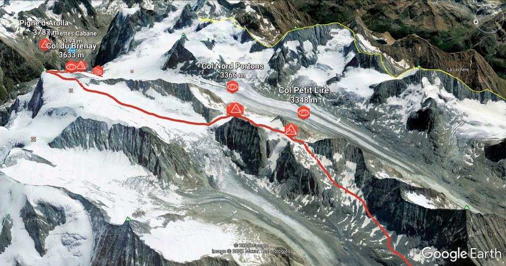 Pigne Arolla, Day 5 H.R. Chamonix-Zermatt Walliser Alpen / Alpes valaisannes Schweiz foto 04