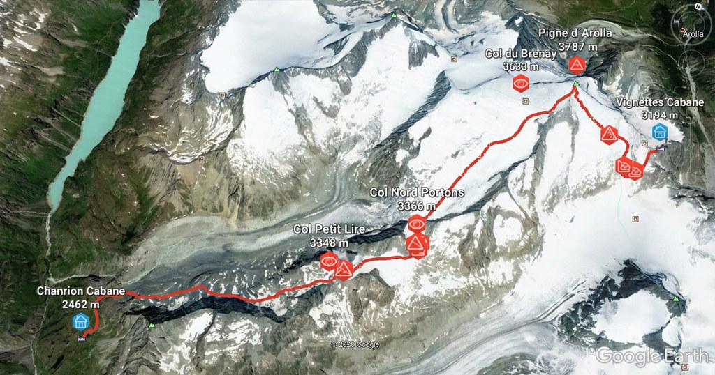 Pigne Arolla, Day 5 H.R. Chamonix-Zermatt Walliser Alpen / Alpes valaisannes Schweiz foto 02