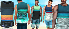 L&B@TMD Sept 2020  Jett Tank Top & Board Shorts
