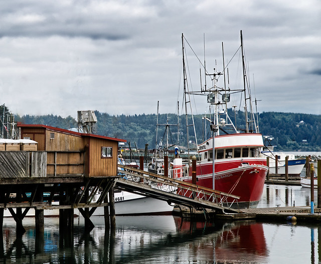 The Red Barron - Docks at Newport Oregon