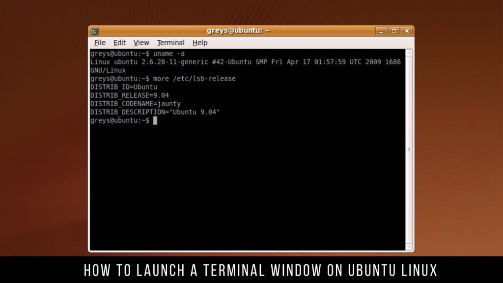 How to Launch a Terminal Window on Ubuntu Linux