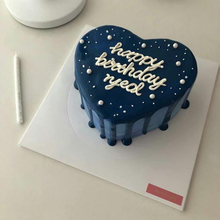 minimalist Korean-style cakes