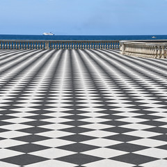 Checkered seafront