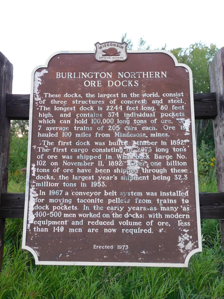Burlington Northern Ore Docks Historic Marker