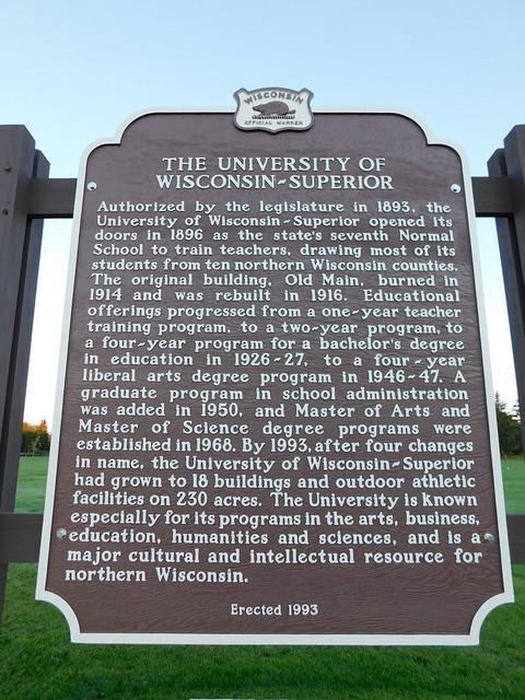 Univeristy of Wisconsin-Superior Historic Marker
