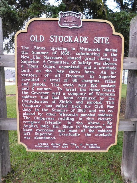 Old Stockade Site Historic Marker