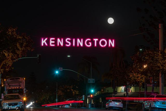 Kensington Neighborhood Street Sign in San Diego