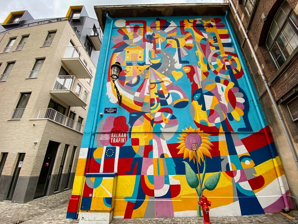 Balkan Trafic Festival mural by Rikardo Druskic
