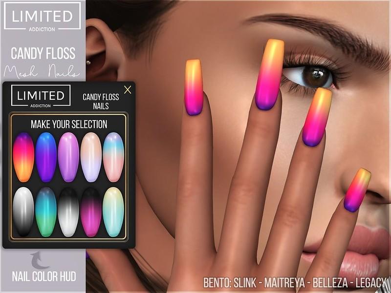 Limited Addiction - Candy Floss Bento Mesh Nails