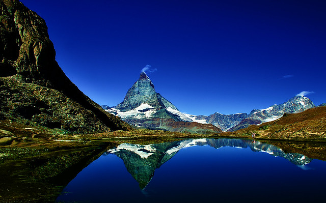 Yet another lake reflection of the Matterhorn :)