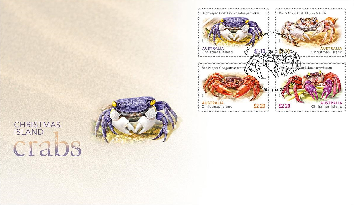 New Issues 2020: Christmas Island (Crabs) – Philatelic Pursuits