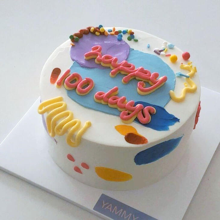 happy 100 days cake