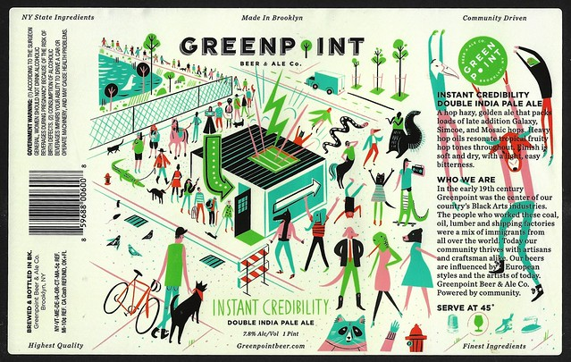 INSTANT CREDIBILITY by Libby VanderPloeg for Greenpoint Beer & Ale Co.